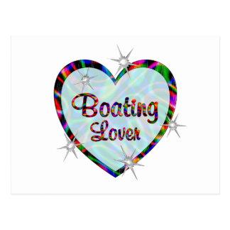 Amante del canotaje tarjeta postal