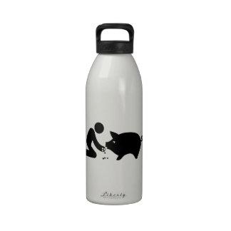 Amante del cerdo botella de agua