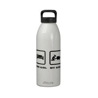 Amante del cerdo botella de beber