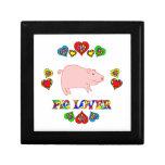 Amante del cerdo caja de recuerdo