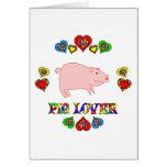 Amante del cerdo felicitaciones