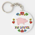 Amante del cerdo llaveros personalizados