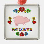 Amante del cerdo ornamentos para reyes magos