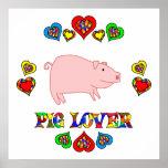 Amante del cerdo poster