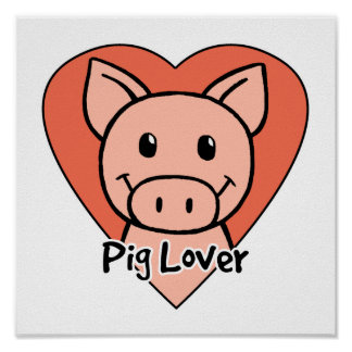Amante del cerdo póster