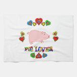Amante del cerdo toallas de cocina