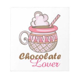 Amante del chocolate libretas para notas