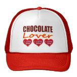 Amante del chocolate con te amo los chocolates gorro de camionero
