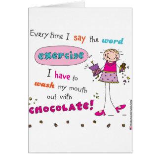 Amante del chocolate felicitacion