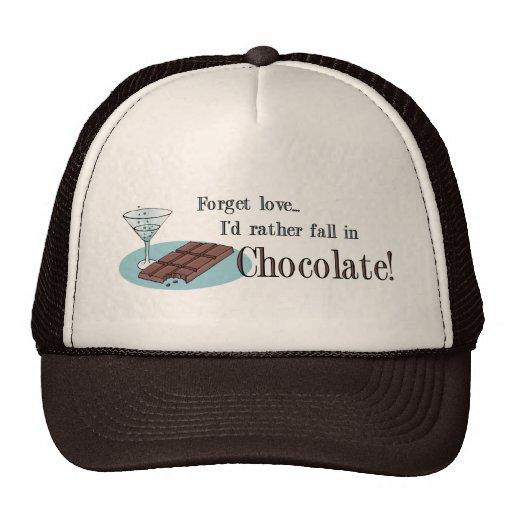 Amante del chocolate gorros bordados