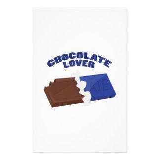 Amante del chocolate papelería personalizada
