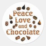 Amante del chocolate pegatina redonda