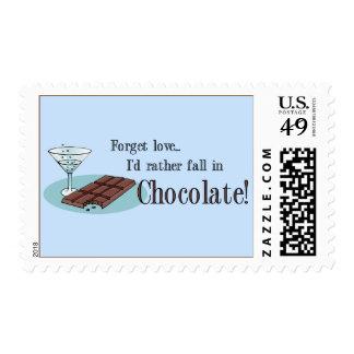 Amante del chocolate franqueo