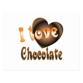 Amante del chocolate postales