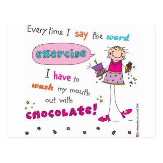 Amante del chocolate tarjetas postales