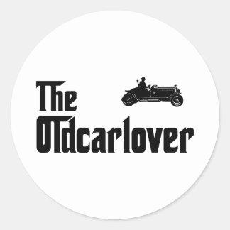 Amante del coche antiguo pegatinas