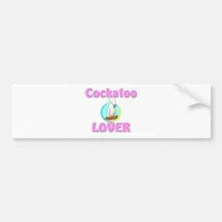 Amante del Cockatoo Pegatina Para Auto