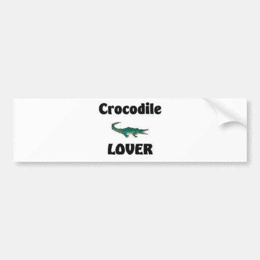 Amante del cocodrilo pegatina de parachoque