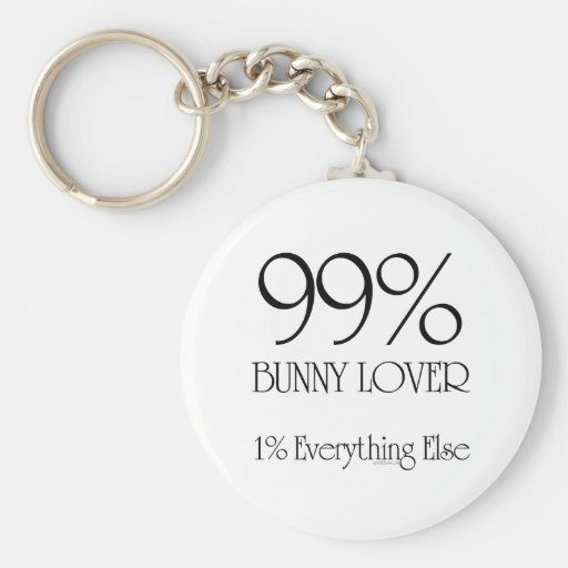 Amante del conejito del 99% llavero redondo tipo pin