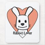 Amante del conejo alfombrilla de ratón