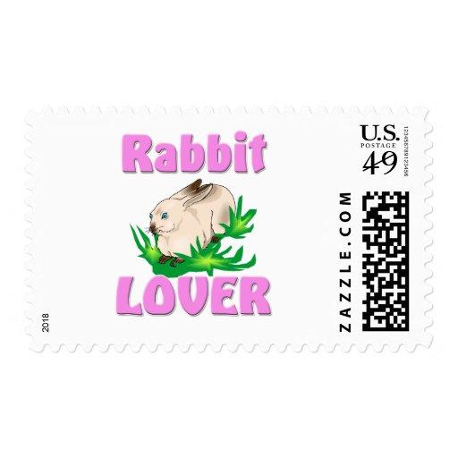 Amante del conejo estampillas