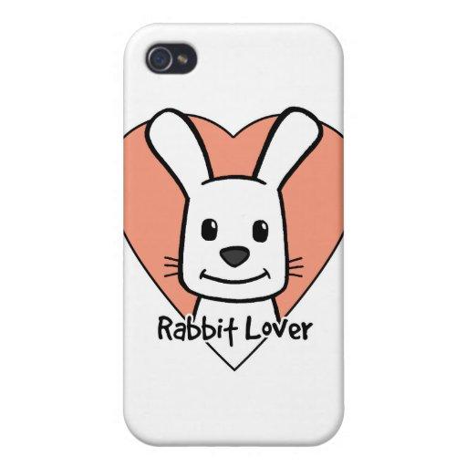 Amante del conejo iPhone 4/4S fundas
