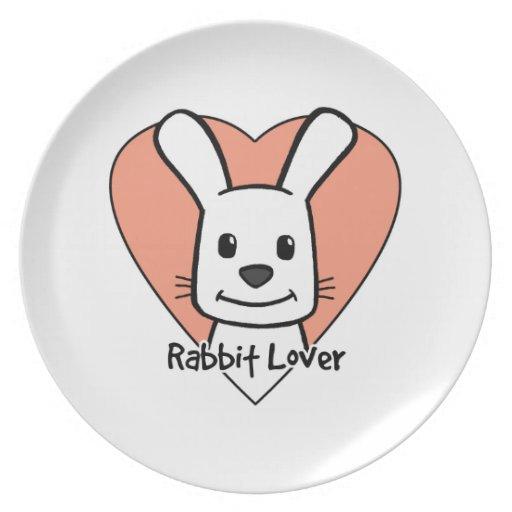 Amante del conejo platos de comidas