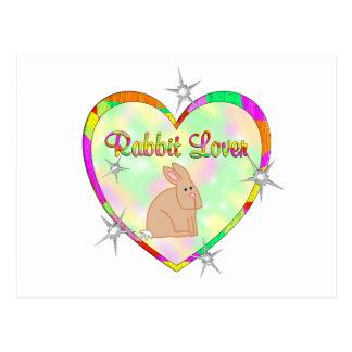 Amante del conejo postal