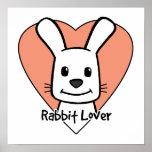 Amante del conejo posters