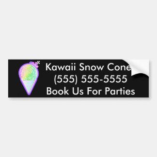 Amante del cono de la nieve - pegatina para auto