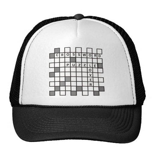 Amante del crucigrama gorras de camionero