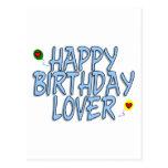 Amante del cumpleaños tarjetas postales