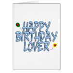 Amante del cumpleaños tarjeton