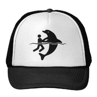 Amante del delfín gorros bordados