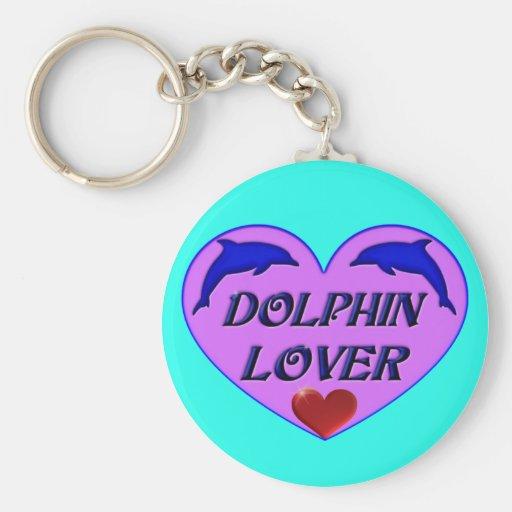 Amante del delfín llaveros