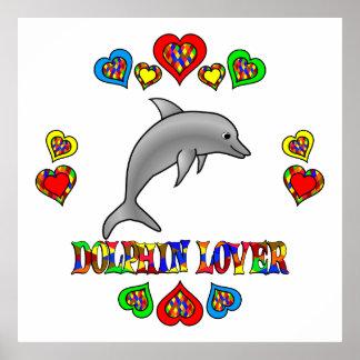 Amante del delfín impresiones