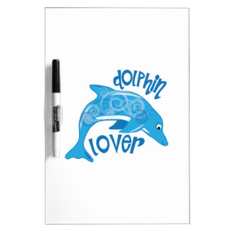 Amante del delfín pizarra blanca