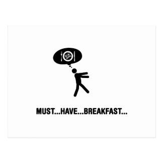 Amante del desayuno tarjeta postal