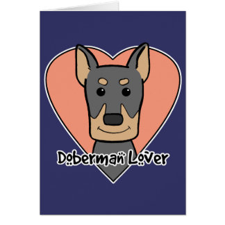Amante del Doberman Felicitacion