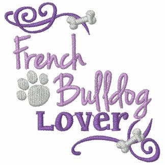 Amante del dogo francés encapuchada bordada