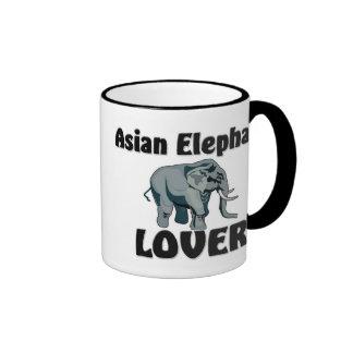 Amante del elefante asiático taza