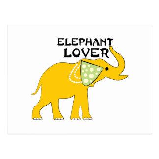 Amante del elefante postal