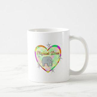 Amante del elefante tazas de café