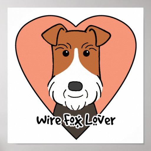 Amante del fox terrier del alambre impresiones