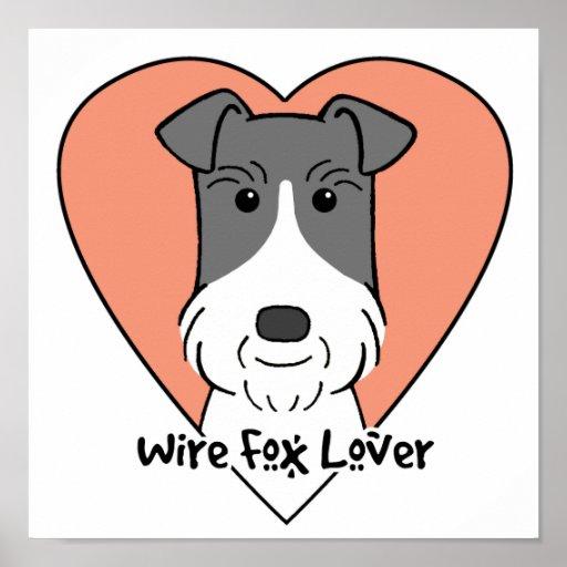 Amante del fox terrier del alambre póster