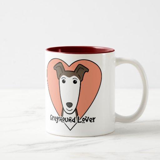 Amante del galgo tazas de café