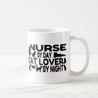 Amante del gato de la enfermera tazas de café