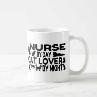 Amante del gato de la enfermera taza de café