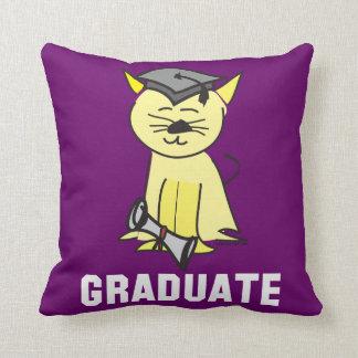Amante del gato de la graduación almohada