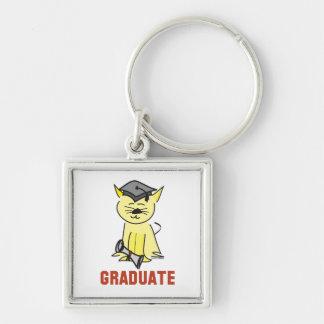 Amante del gato de la graduación llavero personalizado